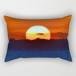 Big Sun & Bird Rectangular Pillow