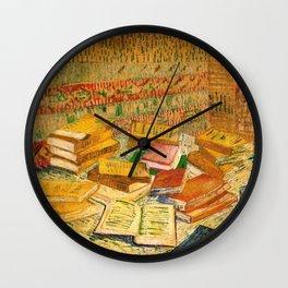 French Novels and a Rose - Van Gogh Wall Clock