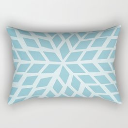 Light blue, diamond, mosaic pattern. Moroccan tile. Rectangular Pillow