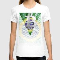 brazil T-shirts featuring bitcon Brazil by seb mcnulty