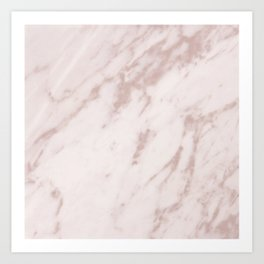 Real Rose Gold Marble Art Print
