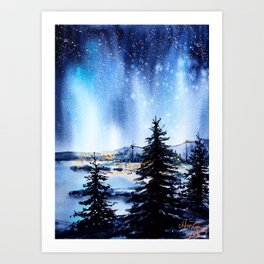 Every Diamond In The Sky Watches Over Us Tonight Art Print