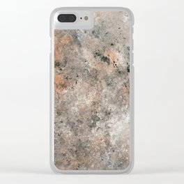 Black and Bronze Abstract Clear iPhone Case