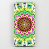 lime green iPhone & iPod Skins featuring Lime Green Citrus Abstract by Phil Perkins