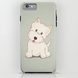 Westie Dog Illustration iPhone Case