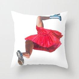 Where woman begins Throw Pillow