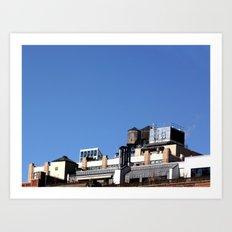 Architecture & blue sky Art Print