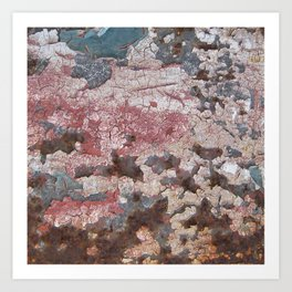 Cracking Paint and Rust Abstract Art Print