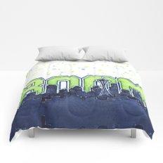 Seattle Legion of Boom Space Needle Skyline Watercolor Comforters