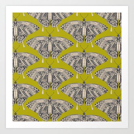 swallowtail butterfly citron basalt Art Print