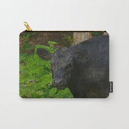 Brown Eyes - Black Heifer and Forest Carry-All Pouch