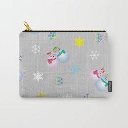 Snowflakes & Pair Snowman_A Carry-All Pouch