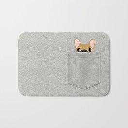 Pocket French Bulldog - Fawn Bath Mat