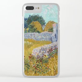 Vincent van Gogh Farmhouse in Provence 1888 Painting Clear iPhone Case
