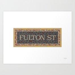 Fulton Street Art Print
