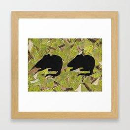 Two Mice Framed Art Print