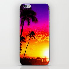 Sunset on Waikiki iPhone & iPod Skin