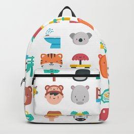 CUTE ZOO ANIMALS PATTERN Backpack