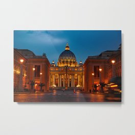 Basilica Papale di San Pietro in Vaticano - ROME Metal Print