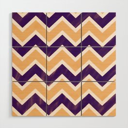 Zig Zag Pattern Summer Wood Wall Art