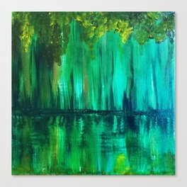 Green reflection Canvas Print
