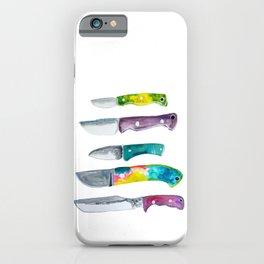 Rainbow Knife Illustration  iPhone Case