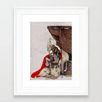 dogs Framed Art Prints featuring dogs by chechula