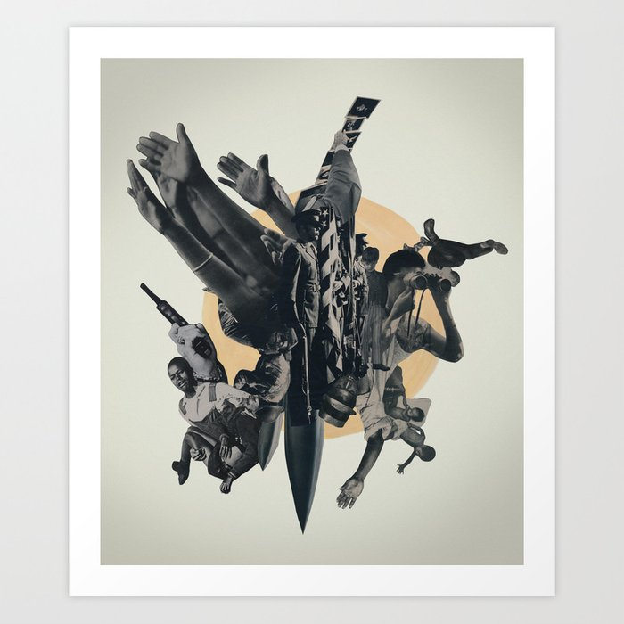 Black Powder Art Print