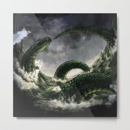 Jormungandr the Midgard Serpent Metal Print