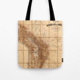 Map Of Bolivia 1904 Tote Bag