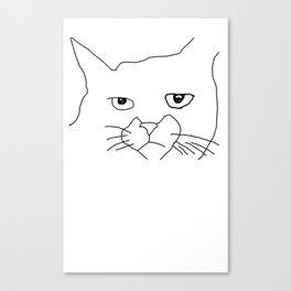 oh hai cat face Canvas Print