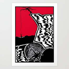 Two Dimensions, Lighter Than The Rope Art Print