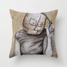 Coy conformity Throw Pillow
