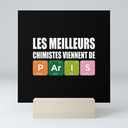 Paris Chemists for Chemistry Lovers Mini Art Print