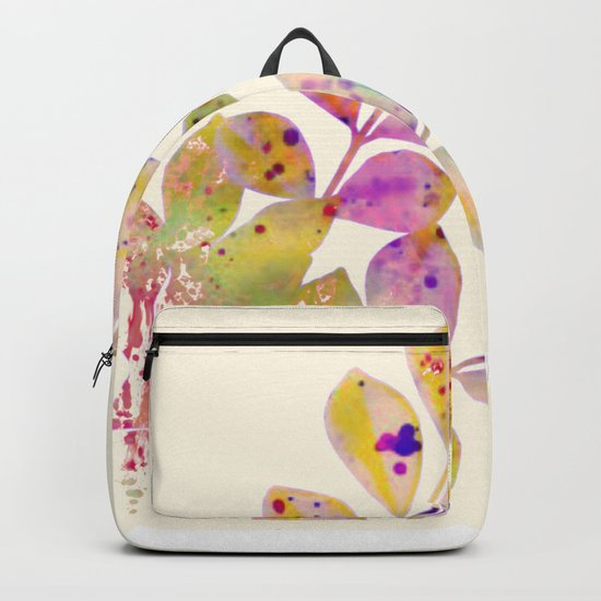 pastel leaves Backpack
