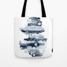 Indigo Abstract Watercolor No.1 Tote Bag