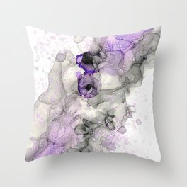 Purple Smoke and Rain Throw Pillow
