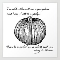 Thoreau's Pumpkin Art Print