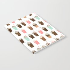 Iced Coffee - latte mocha coffee cafe summer cappuccino dessert sweet treat caramel pattern  Notebook