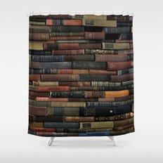 Books on Books Shower Curtain