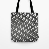 birthday Tote Bags featuring birthday by Analog Fetish Monster