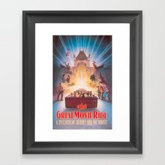 The Great Movie Ride Original Poster Framed Art Print