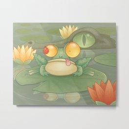 Swamp Snack Metal Print