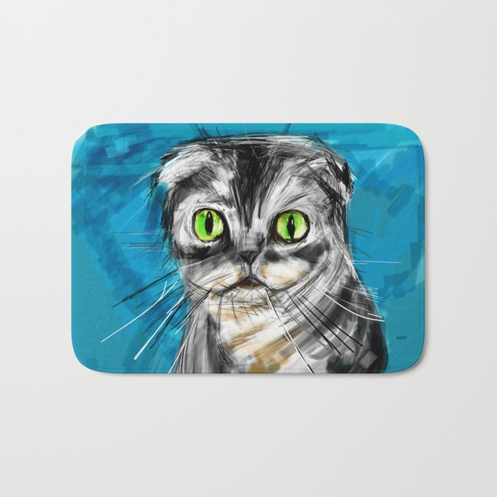 Scottish Fold Cat Bath Mat