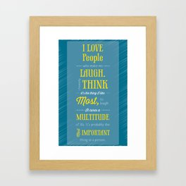 Typographic Audrey Quote Framed Art Print