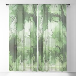 Compassion etched into the heart Sheer Curtain