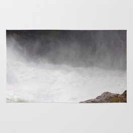 Mist Rising From the Rapids, Churning Water, Fast Moving River Rug