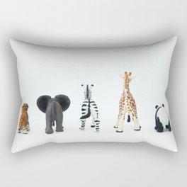 ANIMALS BACKS Rectangular Pillow