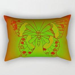 Neon Butterfly Rectangular Pillow