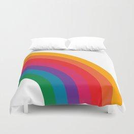Retro Bright Rainbow - Right Side Duvet Cover